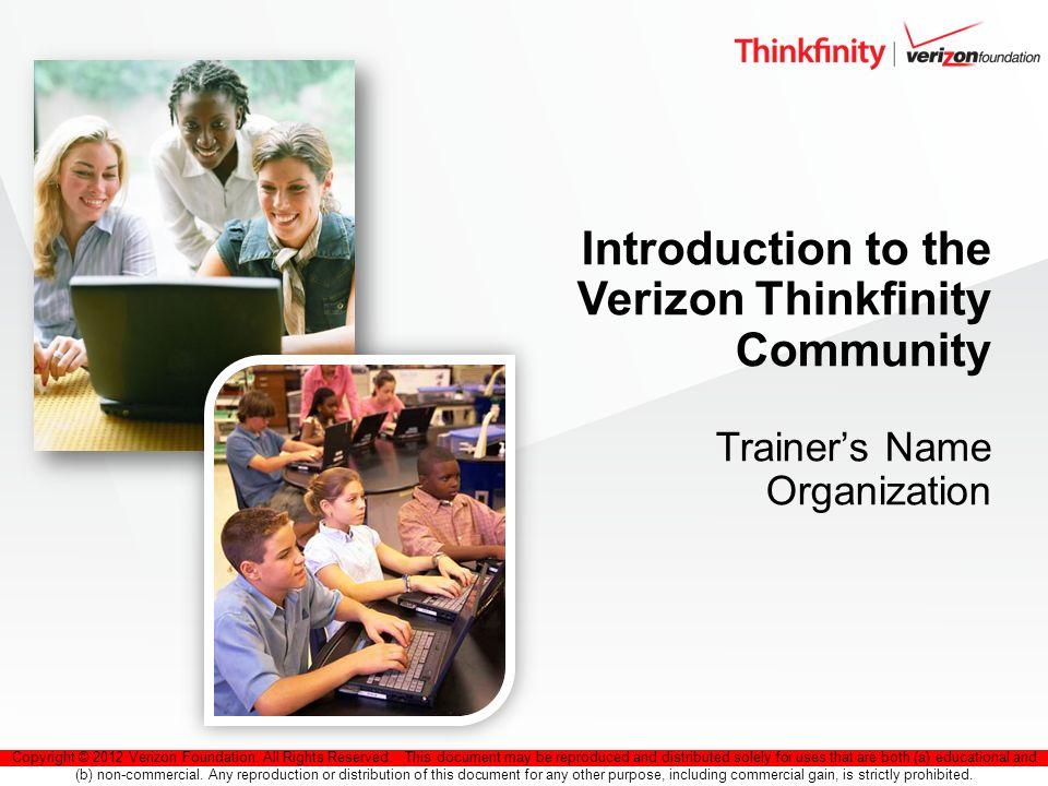 2 Verizon Thinkfinity Community
