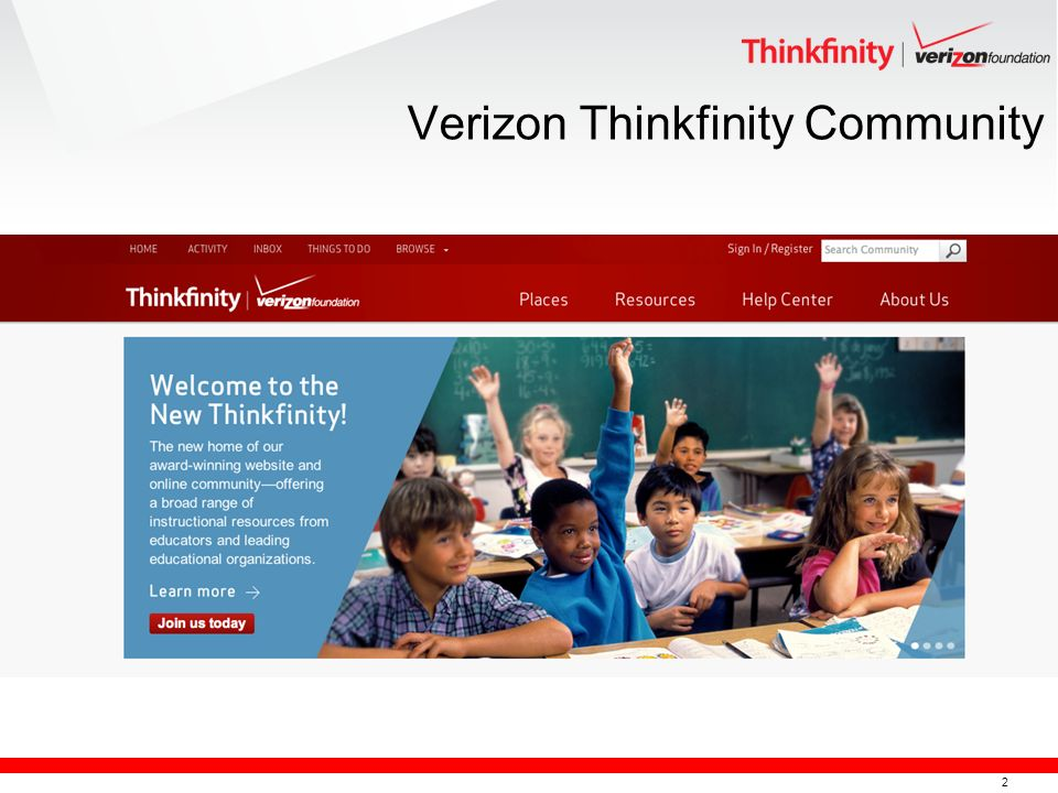 2 Verizon Thinkfinity Community