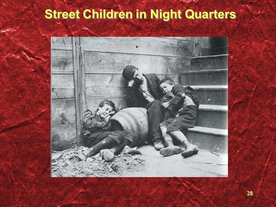 28 Street Children in Night Quarters