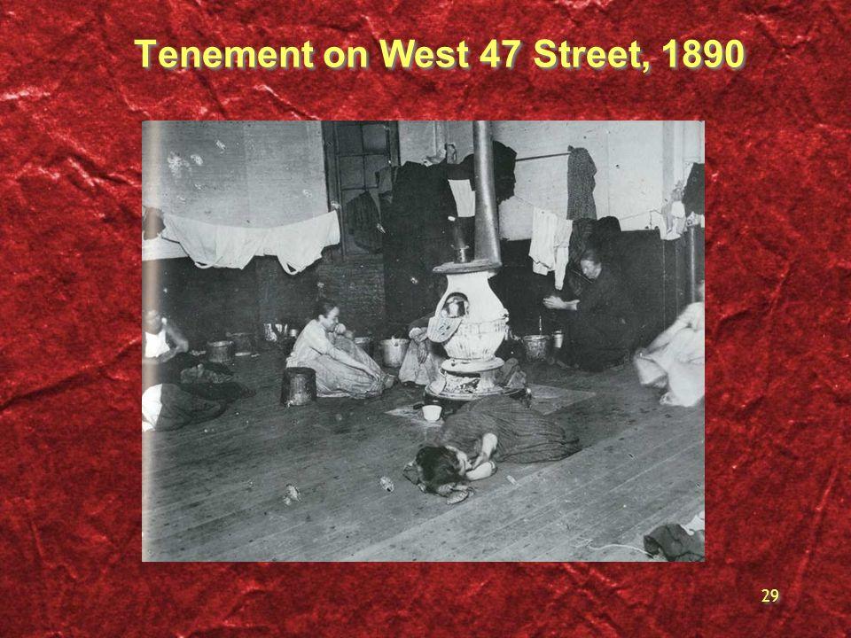 29 Tenement on West 47 Street, 1890
