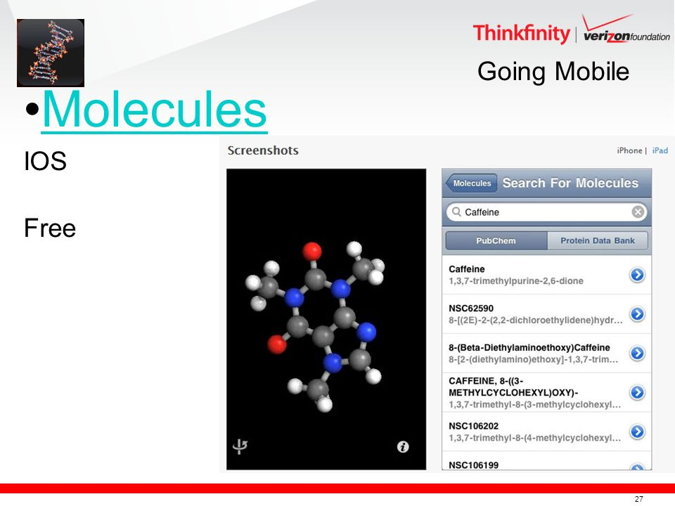 27 Going Mobile Molecules IOS Free