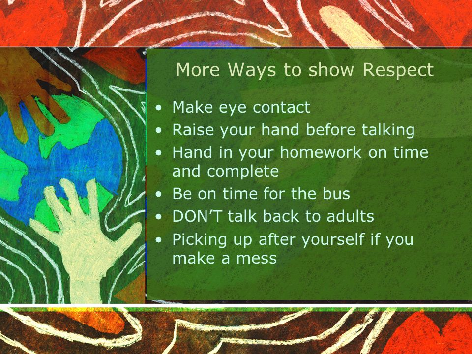What can happen when we show Respect.