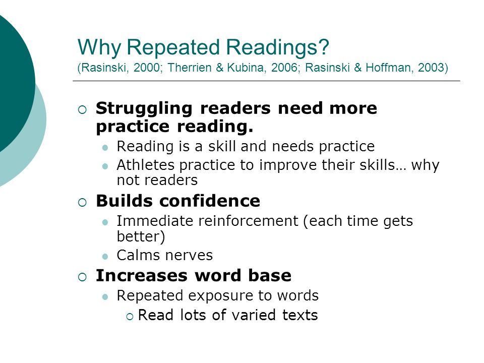 Why Repeated Readings.