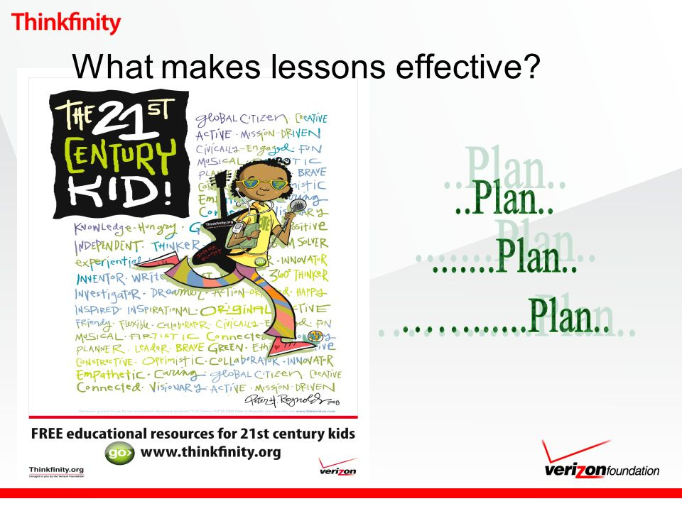 What makes lessons effective?