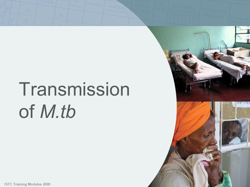 ISTC Training Modules 2008 Transmission of M.tb