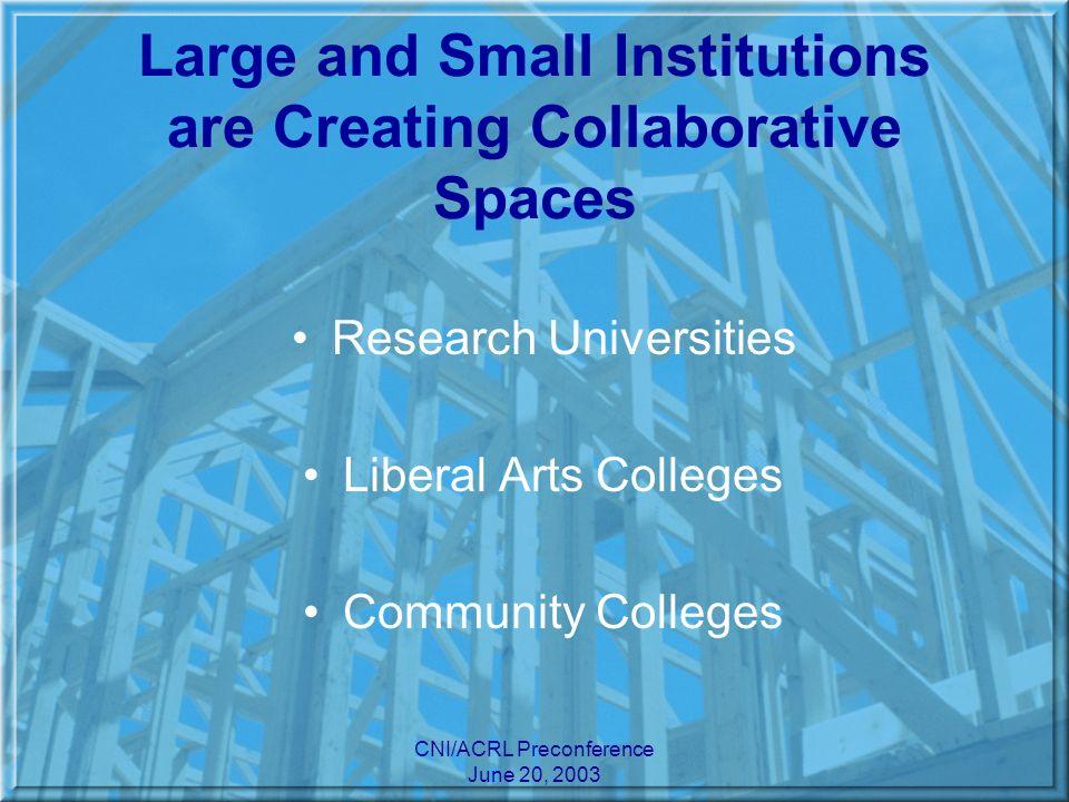 CNI/ACRL Preconference June 20, 2003 Research Universities: U.