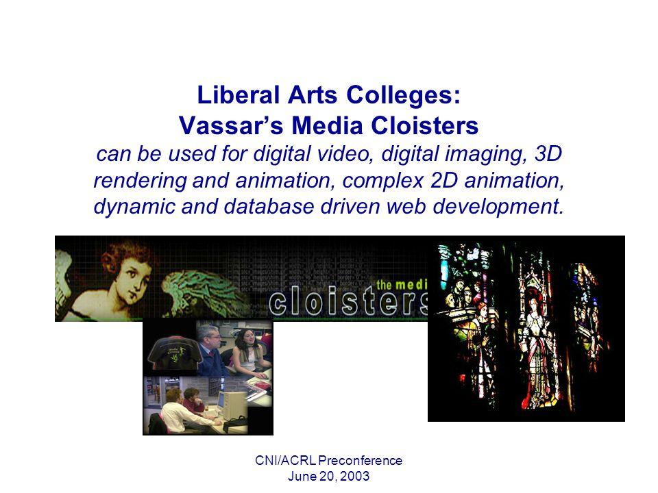 CNI/ACRL Preconference June 20, 2003 Large Facilities: U.Torontos Information Commons New Media Suites Digital Studio Public Access Facility