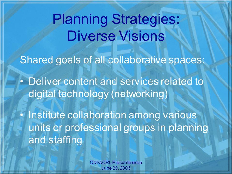 CNI/ACRL Preconference June 20, 2003 Diverse Visions: U.