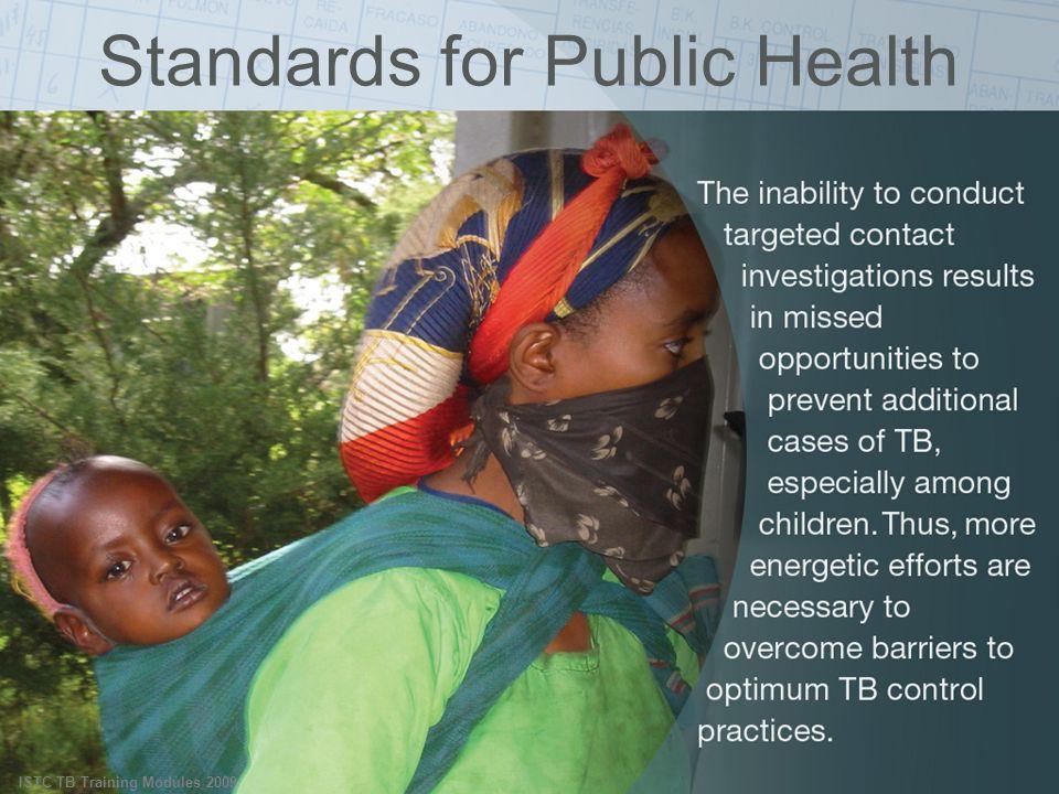 ISTC TB Training Modules 2009 Standards for Public Health