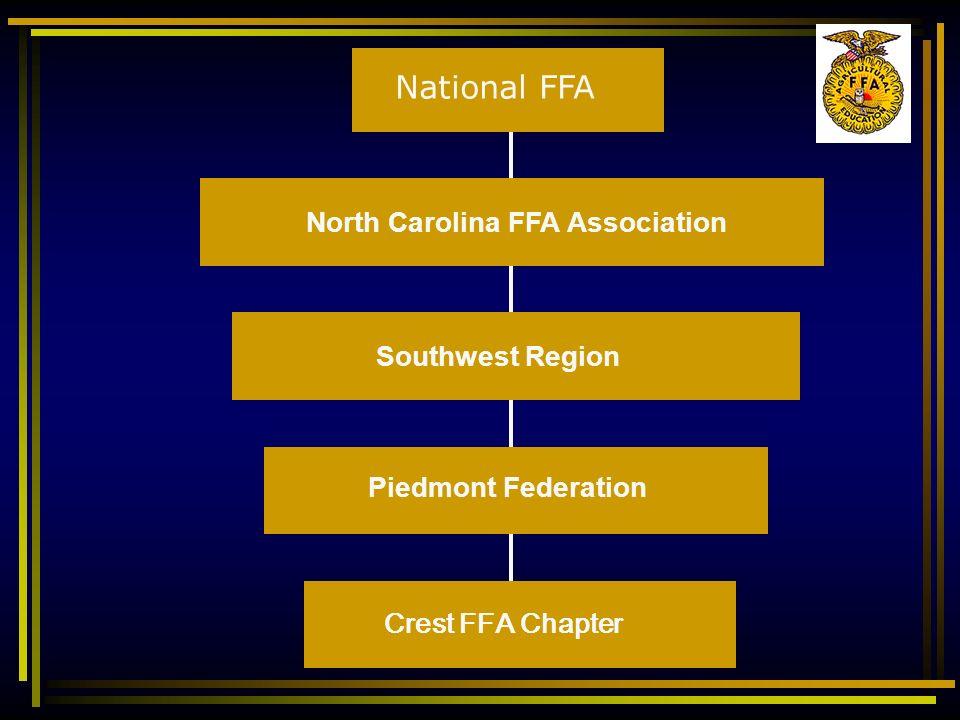 Crest FFA Chapter Piedmont Federation Southwest Region North Carolina FFA Association National FFA