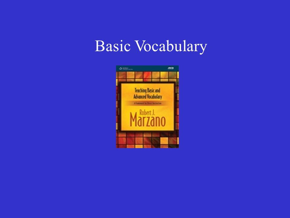 Basic Vocabulary