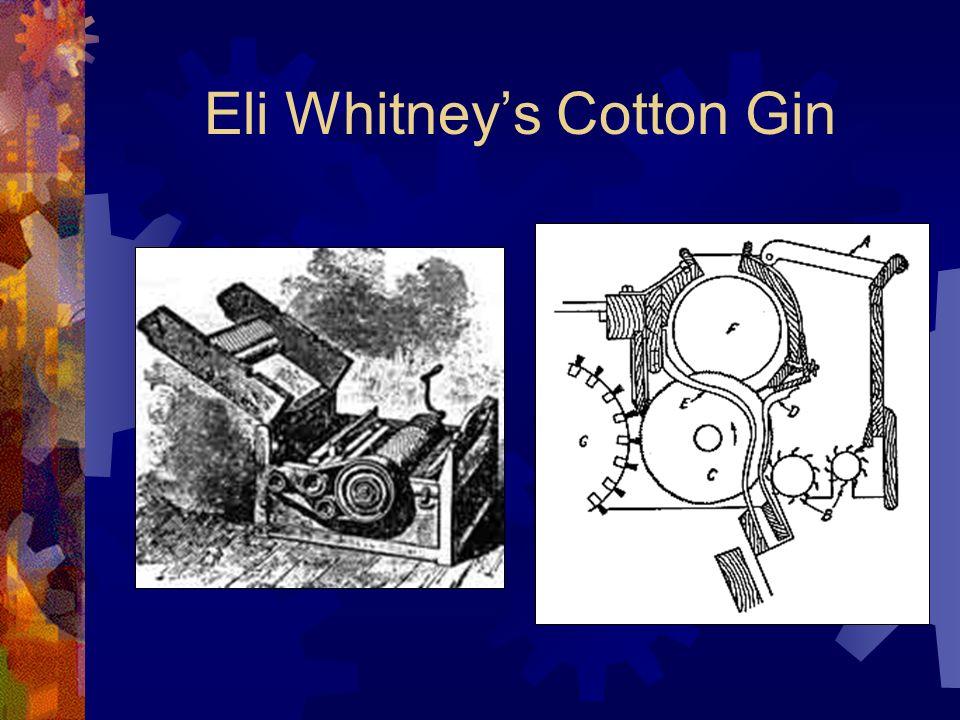 Eli Whitneys Cotton Gin
