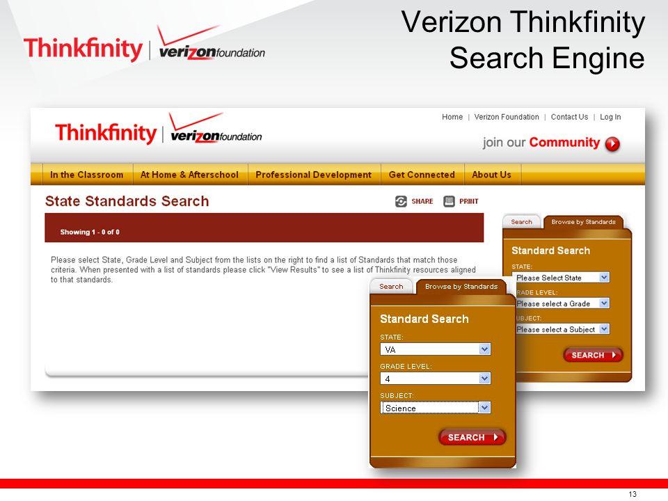 13 Verizon Thinkfinity Search Engine