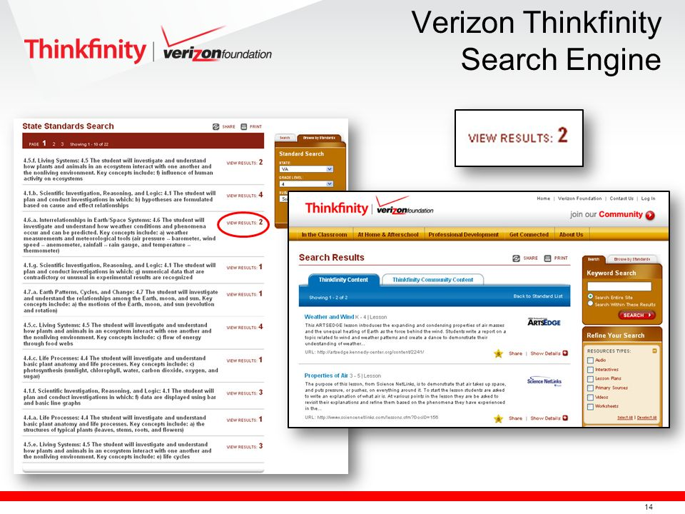 14 Verizon Thinkfinity Search Engine