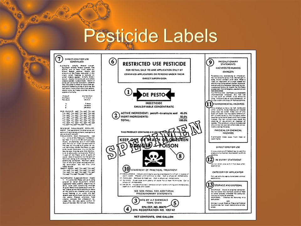 Pesticide Labels