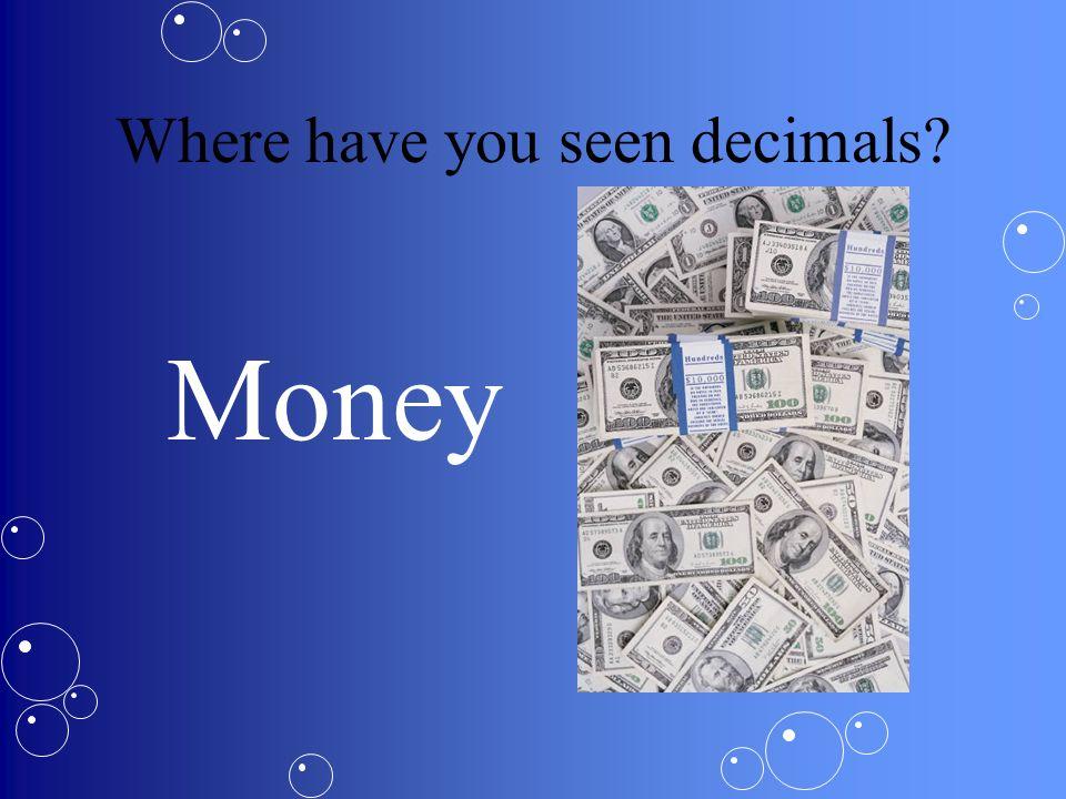Where have you seen decimals? Sports Statistics