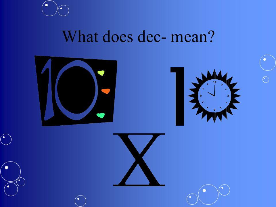 What are decimals.