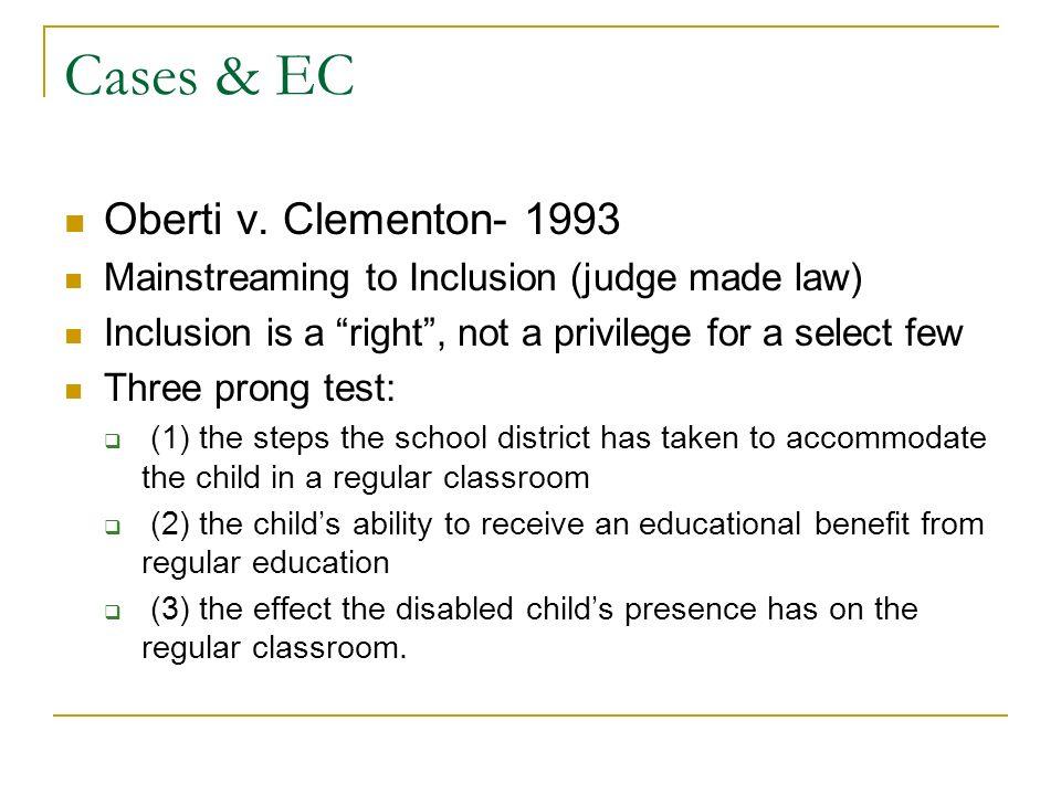 Cases & EC Oberti v.