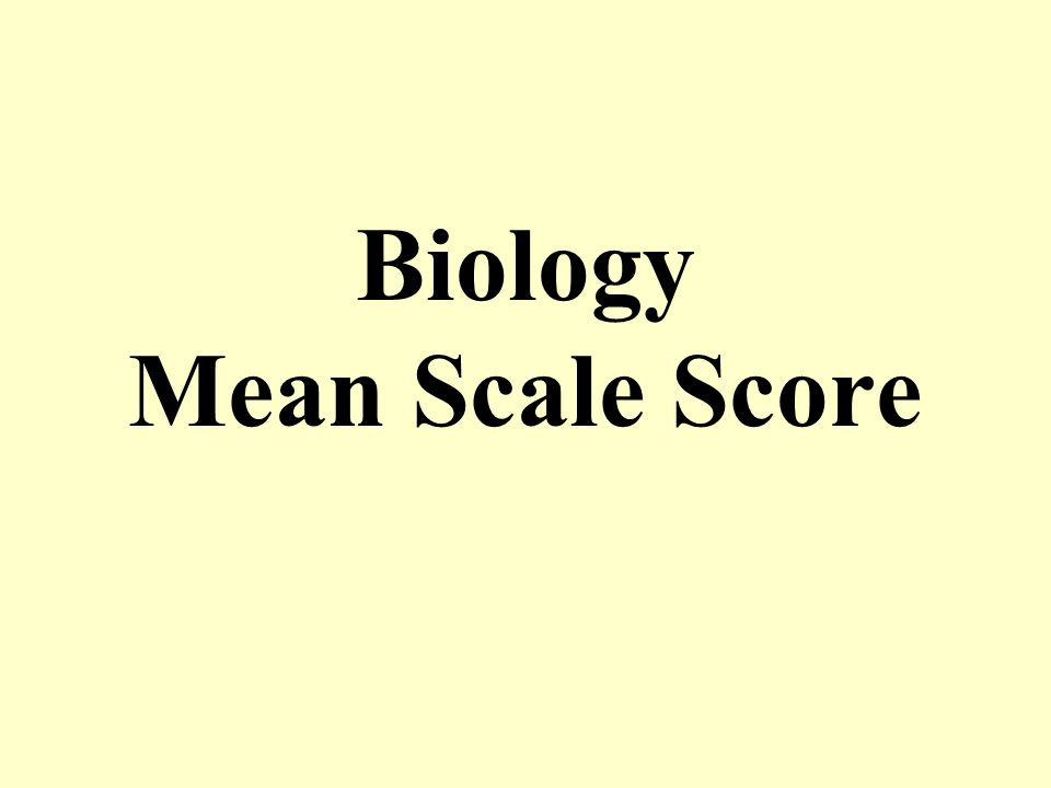 Biology Mean Scale Score