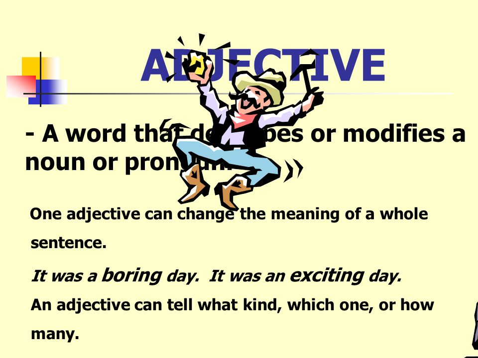 PREPOSITION - A word that shows the relationship between a noun and some other word in the sentence. Tip: Any way that you can throw a ball would be a