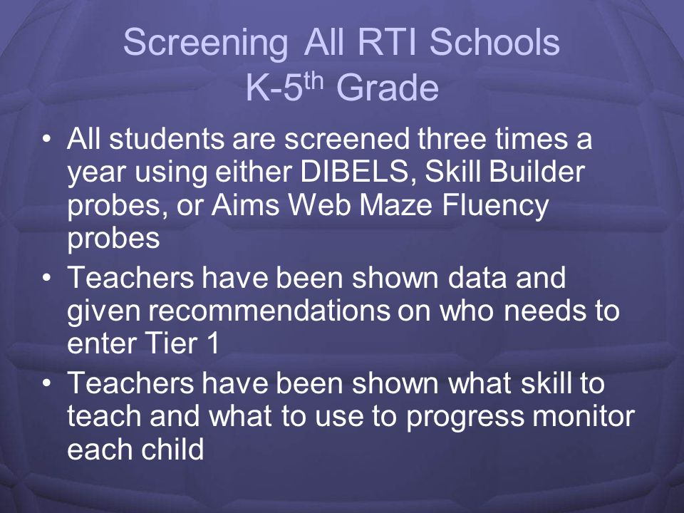 Students Entering Tier 1 First Year K-2 Students entered Tier I in reading based on DIBELS data All other subject areas and grades 3-5 where based on