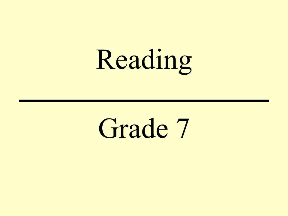 Reading Grade 7