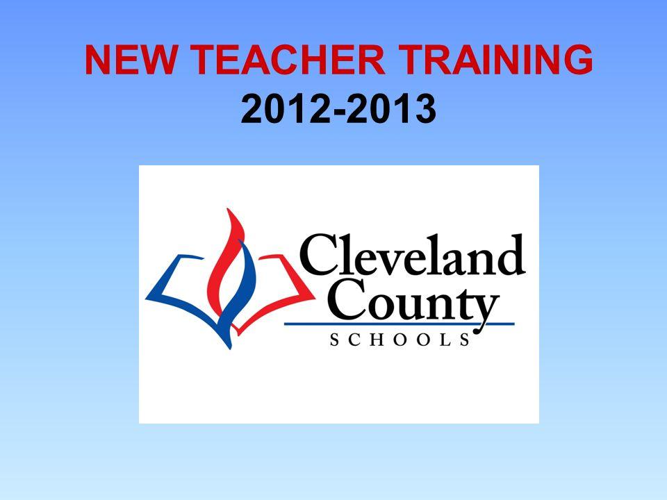 NEW TEACHER TRAINING 2012-2013