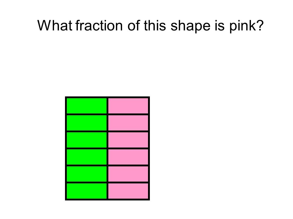 What fraction of this shape is pink
