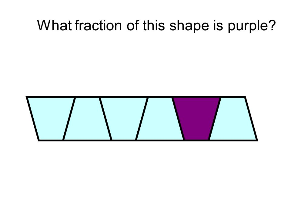 What fraction of this shape is purple