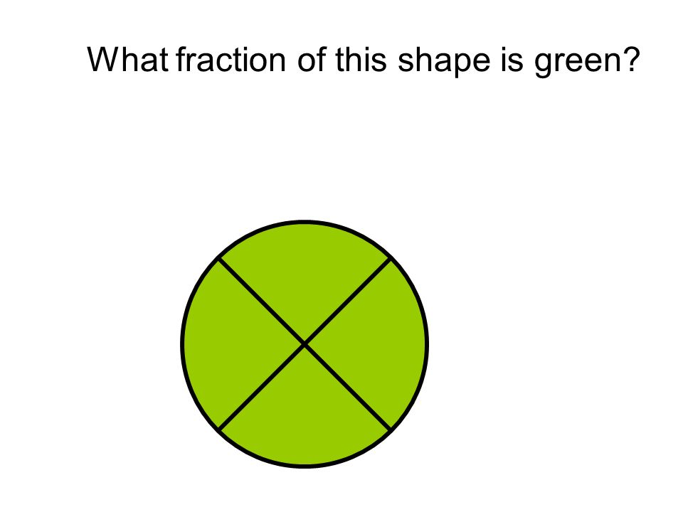 What fraction of this shape is green