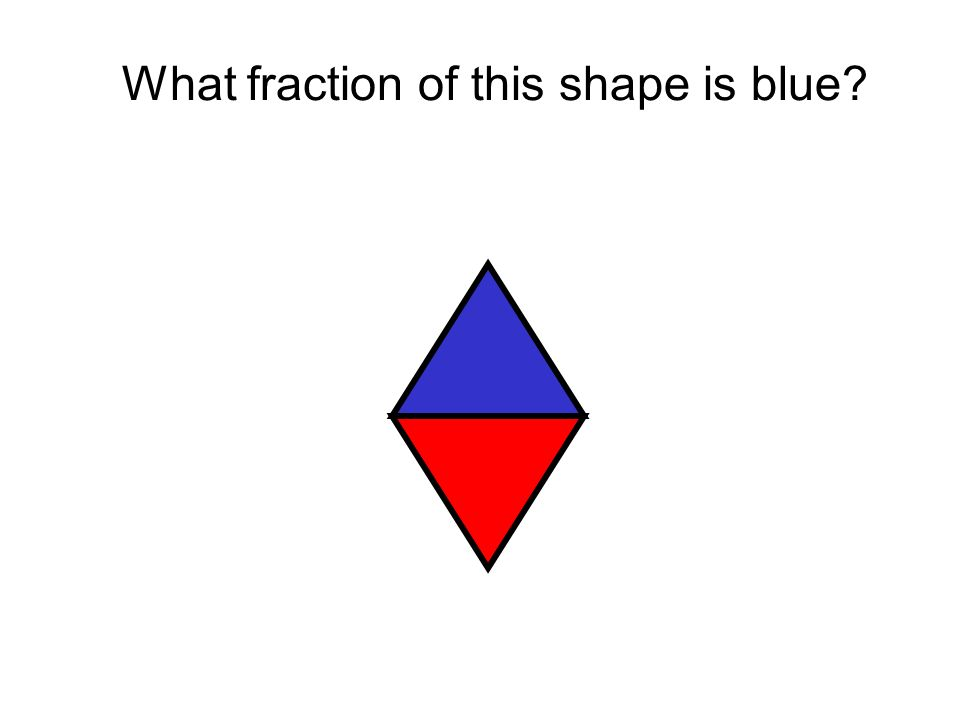 What fraction of this shape is blue