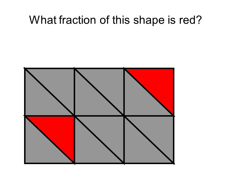 What fraction of this shape is red