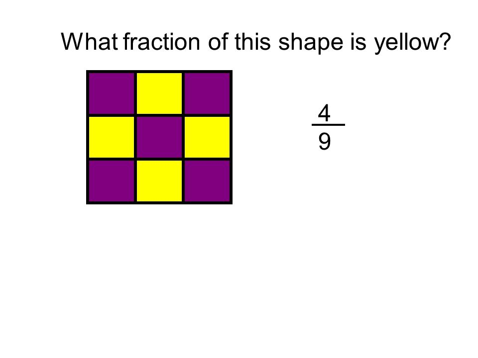 What fraction of this shape is purple?