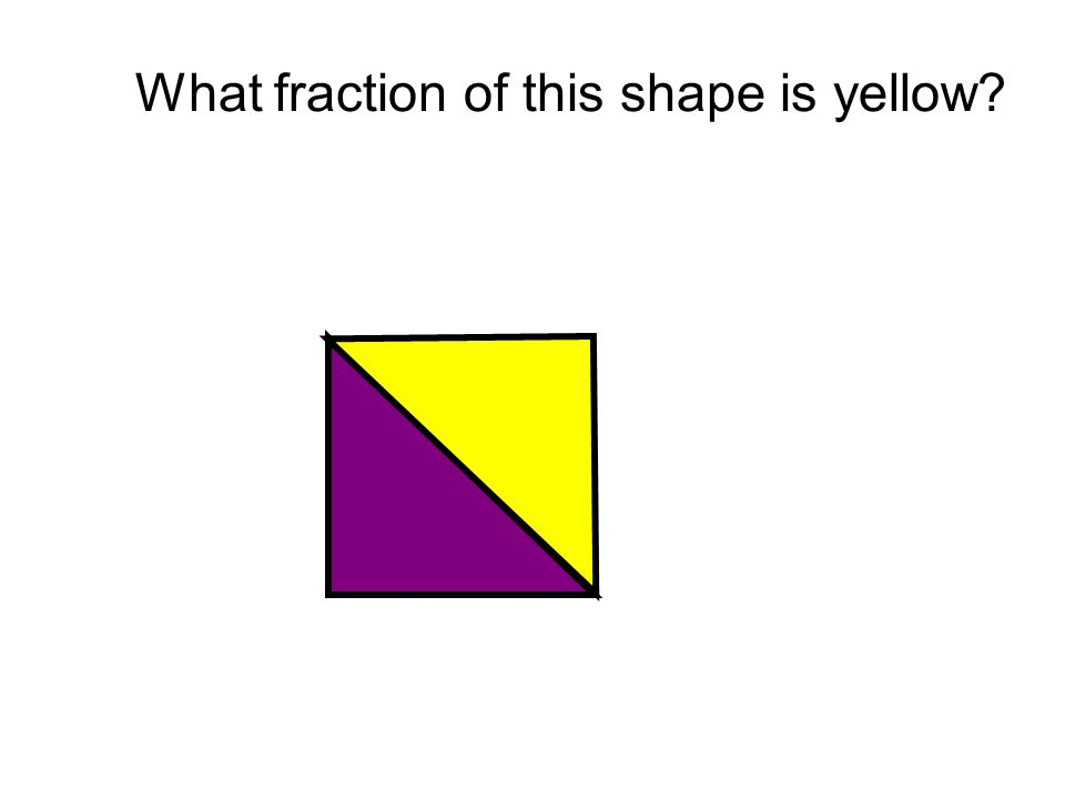 What fraction of this shape is yellow