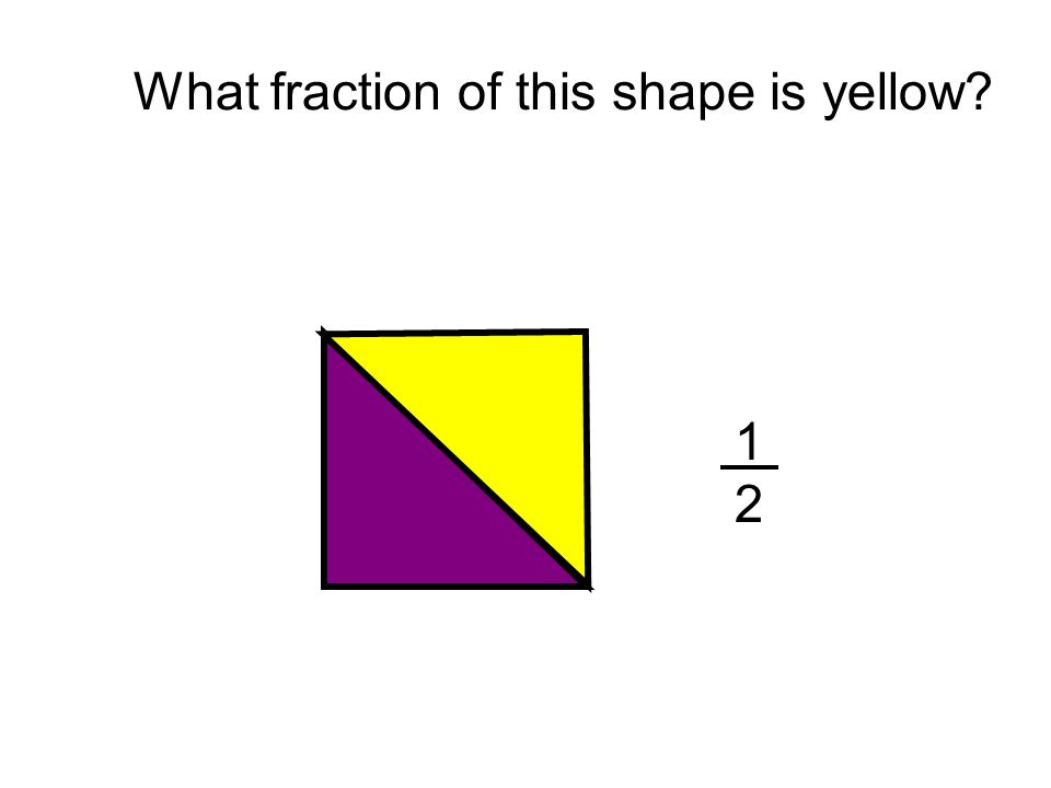 What fraction of this shape is yellow?