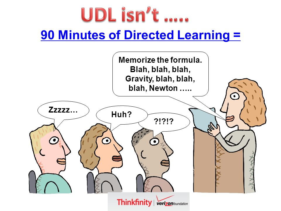 90 Minutes of Directed Learning = Zzzzz… ! !. Huh.