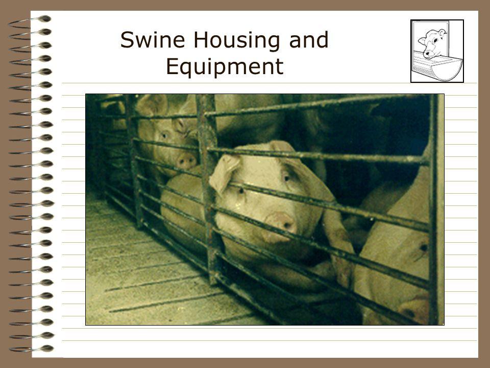 Swine Housing and Equipment