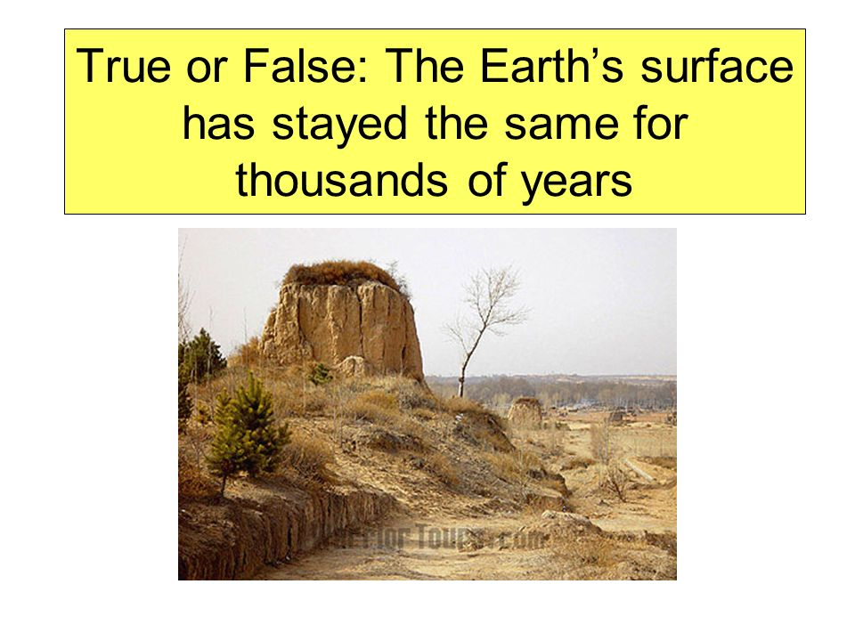The Earths surface is always changing!