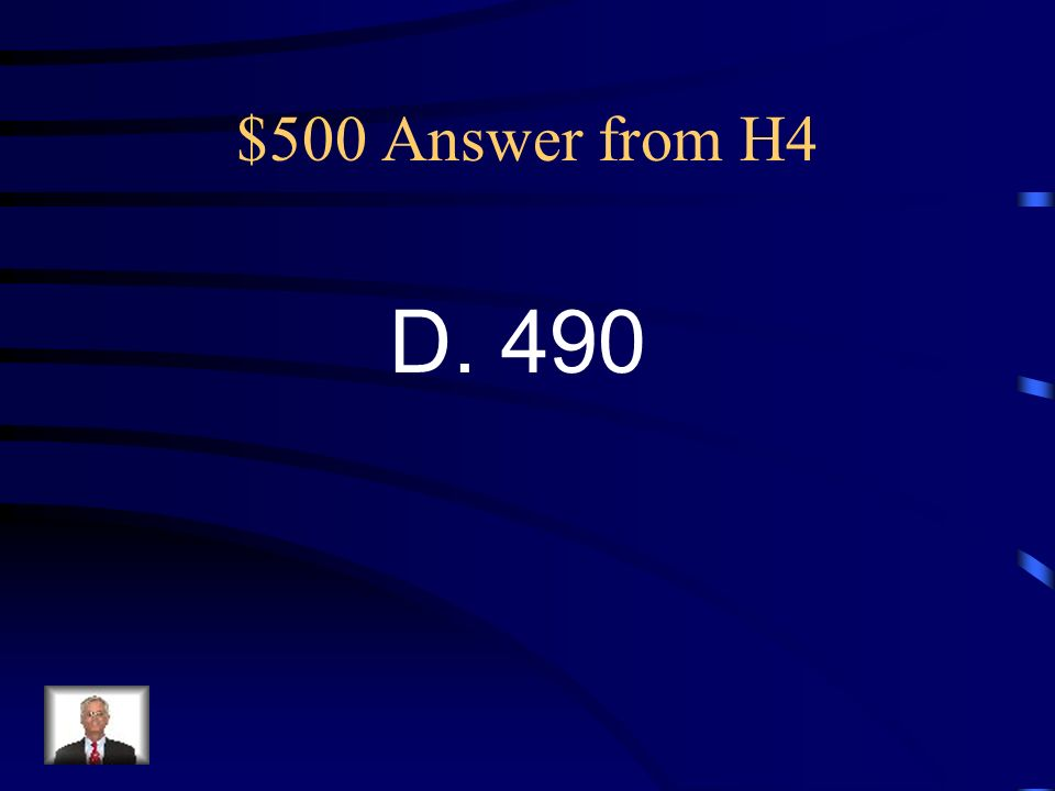 $500 Question from H4 47. How many total students from each school participated in the surveys? A. 170 B. 250 C. 320 D. 490