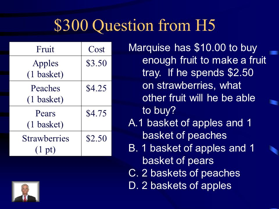 $200 Answer from H5 B4.5 hours