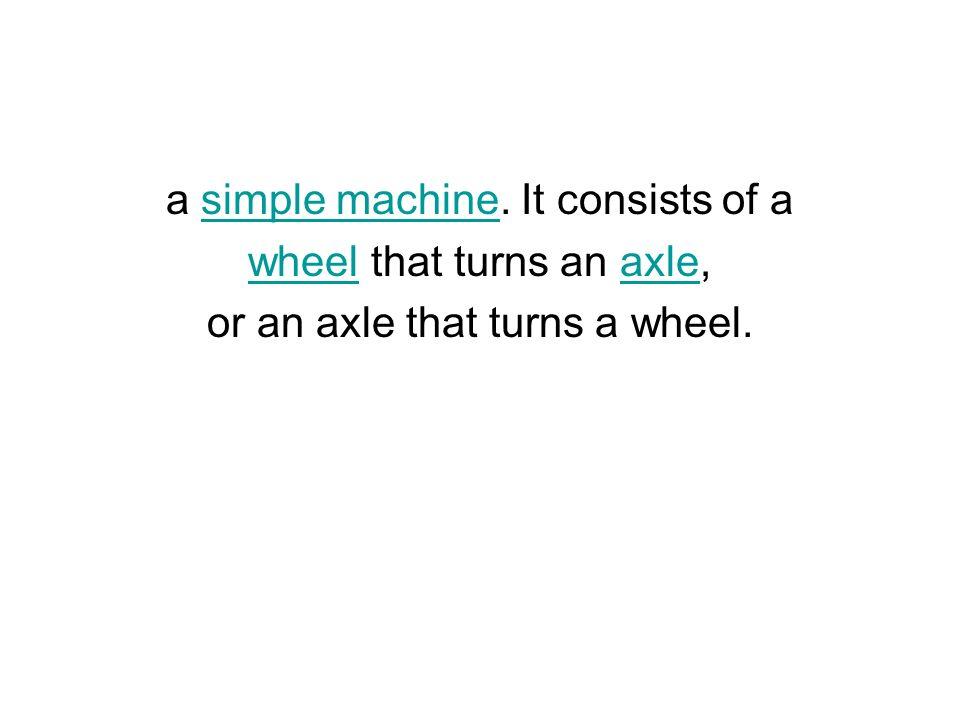 a simple machine.