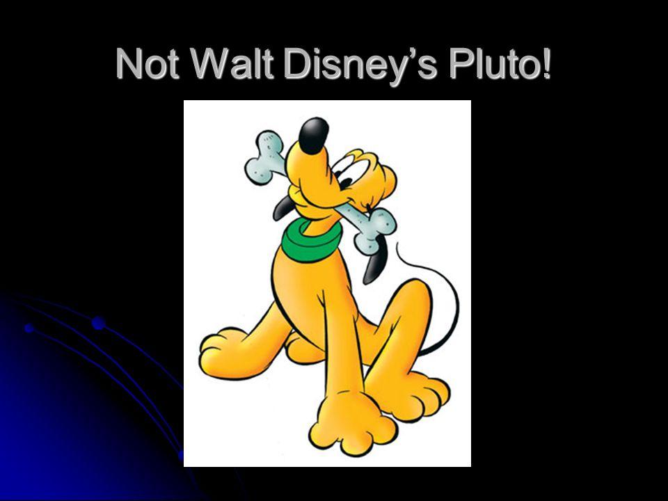 Not Walt Disneys Pluto!
