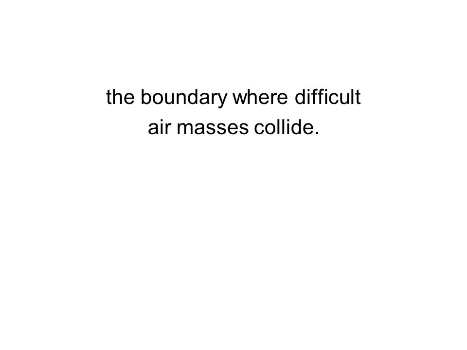 the boundary where difficult air masses collide.
