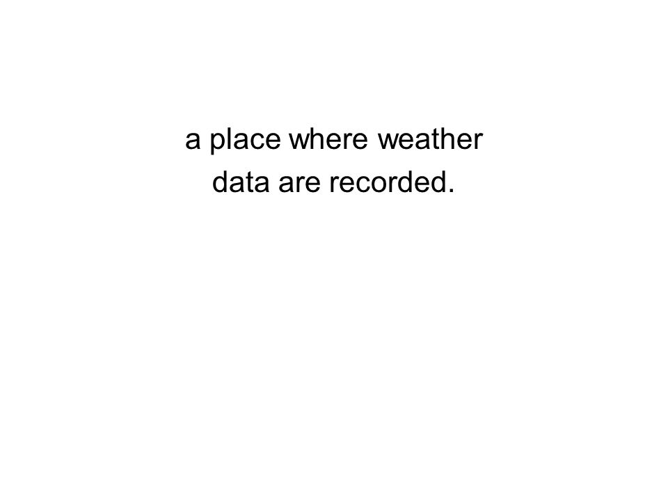 a place where weather data are recorded.