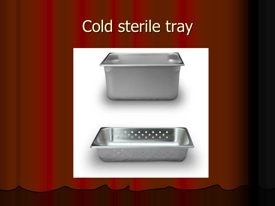 Cold sterile tray
