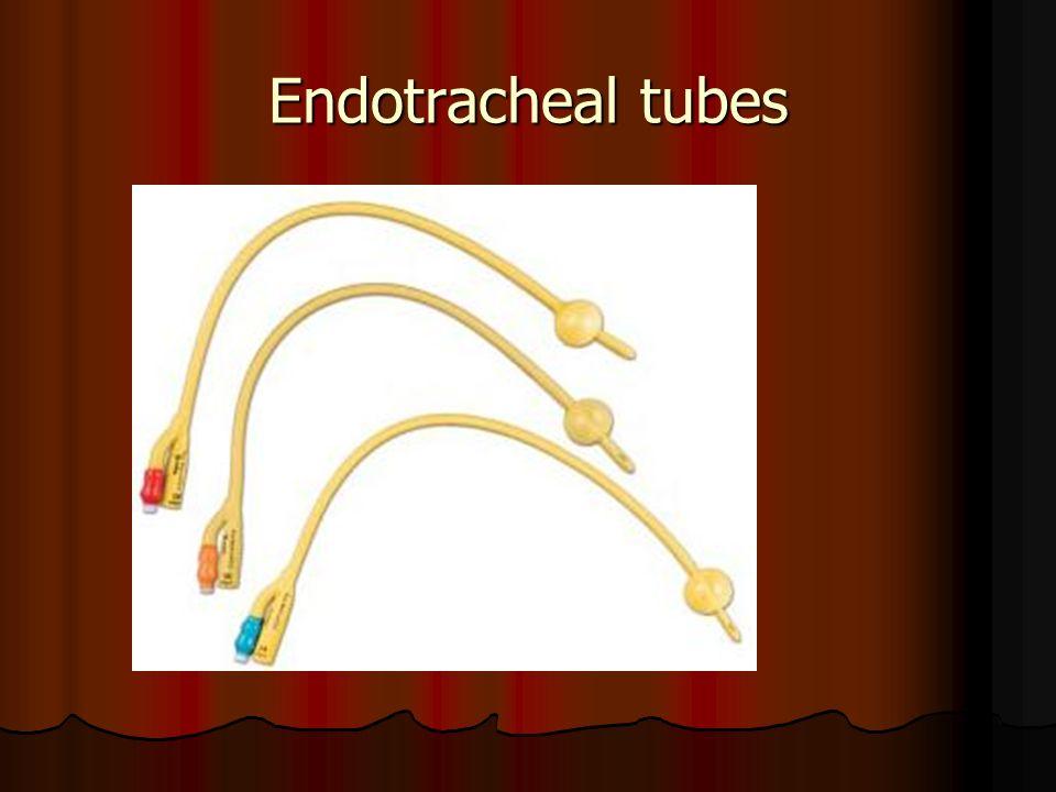 Endotracheal tubes