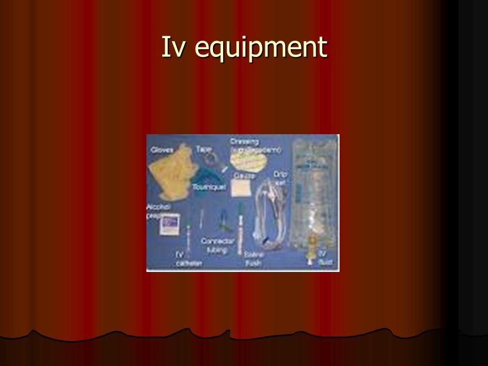 Iv equipment