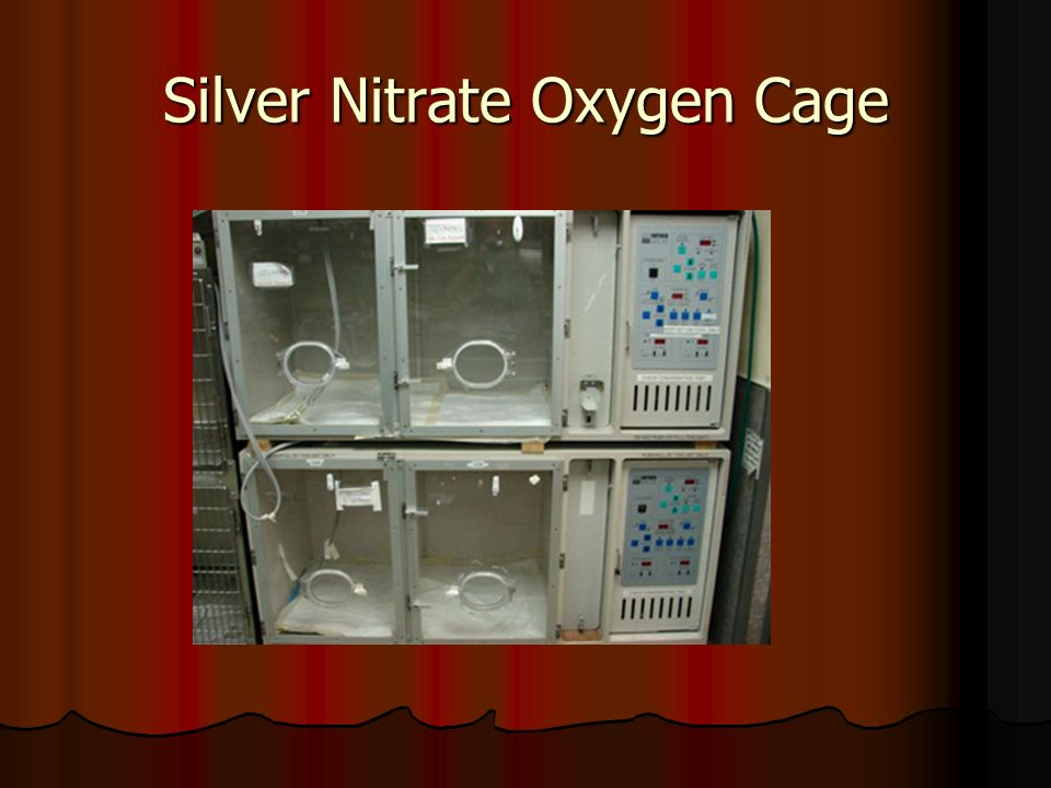 Silver Nitrate Oxygen Cage