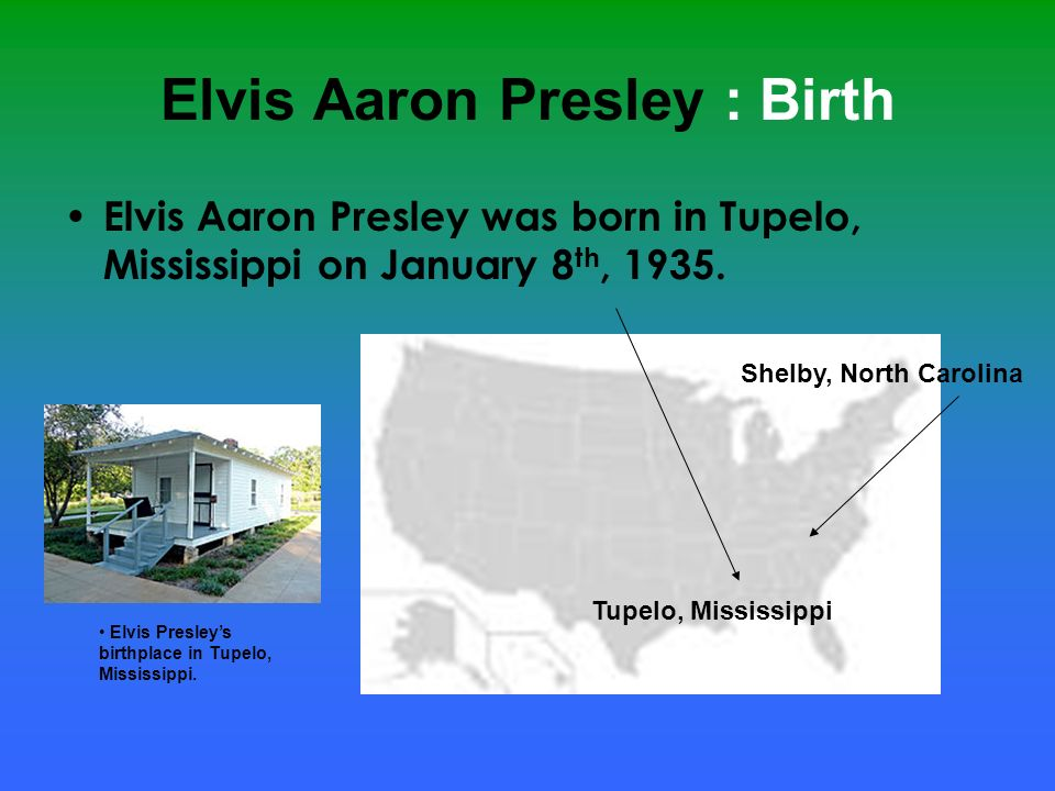 Elvis Aaron Presley : Career At the age of thirteen, Elvis and his family moved to Memphis, Tennessee.