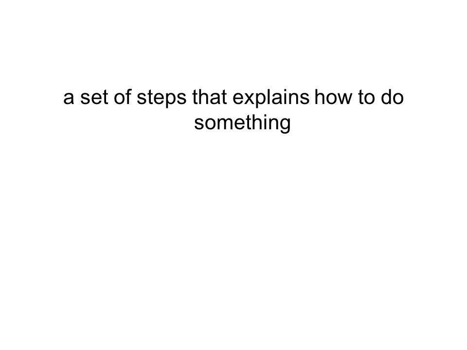 a set of steps that explains how to do something